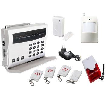 Wireless telephone burglar Alarm System remote control PIR motion detector door sensor siren,phone security alarm free shipping