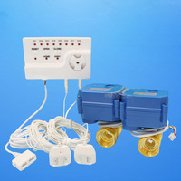 Smart Home Security Water Saving Equipment Water Leakage Detector Alarm System (DN25*2pcs)