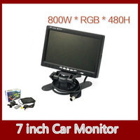 Promotion 7 inch TFT Color LCD Car Rear View Camera Monitor 800*480 Free Drop Shipping
