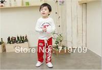 Wholesale The cotton sport fashion letter greenkid pattern warm trousers 5pcs/lot Children's leisure pants KP019 BGK-261