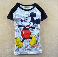 2014 new 2014  t shirt women   spring women's letter pentastar 100% cotton o-neck short-sleeve T-shirt