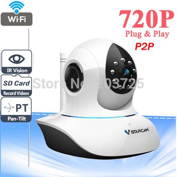 Vstarcam T7838WIP P2P Plug and Play 720P MegaPixel HD Wireless IP Camera with Pan/Tilt SD Card Slot and IR Cut 720p(1280x720)