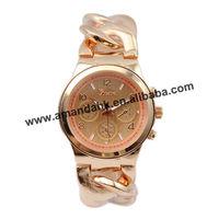 53pcs/lot,fashion stainless steel cowboy chain watch band fashion woman watches lady geneva bracelet wristwatch.