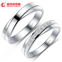 Fashion wedding ring 100% genuine sterling silver platinum Double Ring Engagement Infinity Couple Ring Free Shipping
