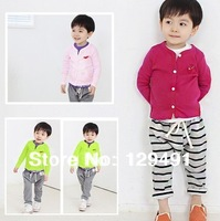 2013 autumn new children's clothing boys and girls children's clothing wholesale 5pcs/lot autumn cardigan T-shirt jacket