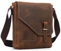 Leisure small shoulder bag for men genuine leather messenger bag free shipping TIDING 1065