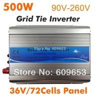 500W Grid Tie Inverter,36V 72Cells panel,MPPT function,Pure Sine wave 220V output,Micro on grid tie inverter