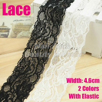 0.49$/meters,sale from 1 meter,4.5cm width elastic Lace for fabric warp knitting DIY Garment Accessories #1716
