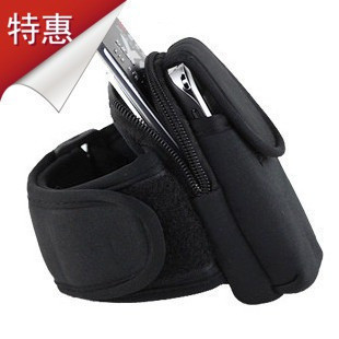 HOT SALE Outdoor Running mobile arm sleeve arm bag wrist bag mobile phone arm bag armband FERR SHIPING Size S for 4inch(China (Mainland))