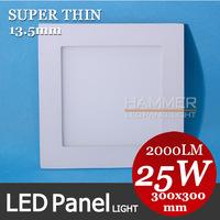 High quality 300x300 30x30 LED panel light, office panel light, 25W high brightness 2835 SMD, factory price