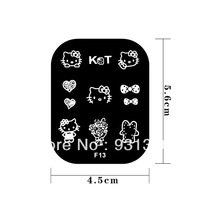 HOT SALES 20SETS HELLO KITTY stainless steel image Plate Nail Art stamping plate template