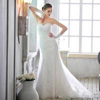 Free Shipping S1359 Bra Fishtail Trailing Wedding Dress 2013 New Sweet Retro+100%Satin