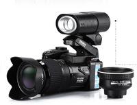 Free shipping D3200 16MP HD digital video camera 21x optical zoom lens + LED light + three large lens digital camera
