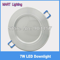 Free shipping 7W LED Ceiling downlight waterproof recessed spot bathroom kitchen cabinet lamp