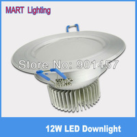 high quality 12W LED ceiling downlights high power recessed spot lighting bulb lamp AC85-265v