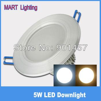 New design 5W recessed led downlights 550lm living restaurant cabinet energy saving lighting AC85-265V