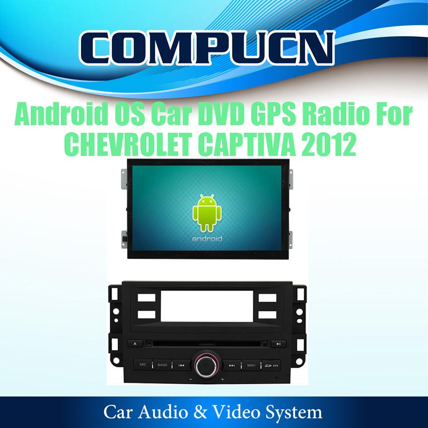 Pure Android 4.0 Car DVD Stereo Sat Navi Headunit For CHEVROLET CAPTIVA 2012 2013 2014 GPS Radio BT Ipod TV, FREE Shipping+Map(Hong Kong)