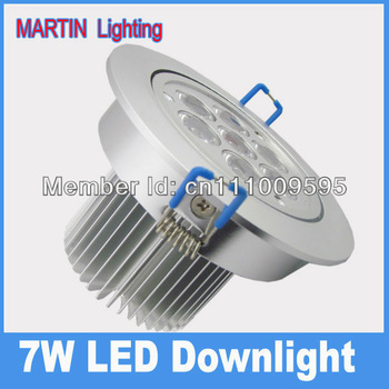 7W high power LED industrial spot down lighting lamp 750lm  aluminum alloy shell AC85-265v