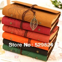 8 colors select stationery vintage cowhide high quality leather paper blank pages doodle book loose leaf diary RB-19