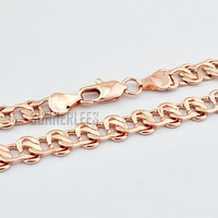8mm New Fashion Jewelry Mens Womens Snail Link Chain 18K Rose Gold Filled Necklace Free Shipping Gold Jewellery C01RN