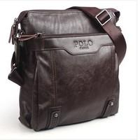 Fashion 2013 POLO Genuine Leather Bags For Men Shoulder Bags Men Brown Color V13002