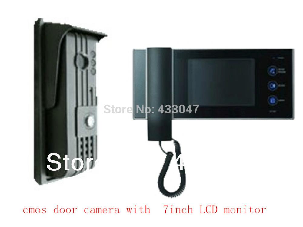 Door entry security system 7 inch screen color video door for Door 4 security