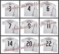 2014-15 La Liga Real Madrid home Soccer jersey football sweatshirts suits ALONSO #14 BALE #11 Ronaldo #7 SERGIO RAMOS# 4