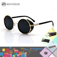 Retail AEVOGUE Retro sunglasses men 7 colors sunglasses women Metal Frame sun glasses gafas oculos de sol CE UV400 AE0040