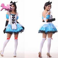 cartoon costumes Alice Fantasy Wonderland Fluffy Princess Dress halloween cosplay Plus Size carvinal costume for women FM001