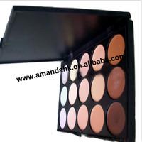 15 toner cream concealer   24pcs/lot fashion  15 color  concealer palette