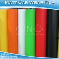 "60x152CM 24""x60"" Free Shipping Matt Color PVC Wrap Vinyl Film For Car Decoration"