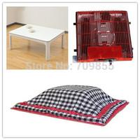 ( 4pcs/set) Free Shipping Kotatsu Living Room Sets Foot Warmer Heated Japanese Kotatsu Table Futon Heater Home Furniture