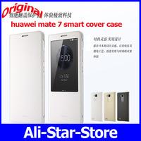 Original smart leather case For Original Huawei Ascend Mate 7 FDD 4G LTE Octa Core phone Metal Fuselage 6'' 1920x1080P 3G RAM