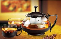 2014 new style  glass coffee / teaset, 750ml / 26 oz glass kettle + 4*150ml / 5 oz cups, cool in personality glass tea set