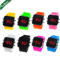 ( Min Order $10) High Quality Wholesale Fashion silicone LED Mirror Silicone Watch. Many Colors Available.