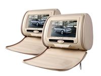 7inch Car Headrest DVD Player Pillow Monitor Video Player Digital Screen 800*480 Game USD SD FM/AM Transmitter Zipper