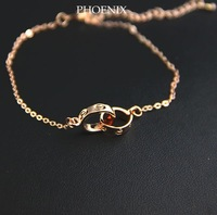 HEB028 Wholesale Designer 14K rose Gold Plated Bracelets Fashion Jewelry women love Pulseras Mujer atacado de bijuteria