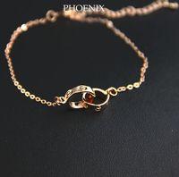 HEB028 Wholesale Designer 14K rose Gold Plated Bracelets Fashion Jewelry women love pulseiras femininas pulseras mujer
