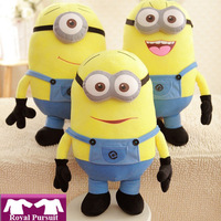 """2015 Despicable me 2  High Quality  big minion  Movie Plush stuffed Toys 20 inch """" 50cm  gifts for kids with 3D Eyes #1 42007"""