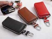 New Arriva Korea  High Quality Car Key Wallets Genuine Leather Zipper Purse Women&Men Key Holders,Business Gifts Y006