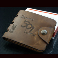 man's wallet genuine leather man leather purse wallet wholesale free shpping D826-73