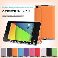 New 2013 High Quality PU Leather Ultrathin Magnetic stand Smart Case for Google Nexus7 II 2nd Sleeping Wake Sensor Free Shipping