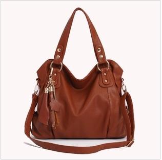 women's genuine Leather Handbag Fashion Tassel Shoulder Tote Handbags of Famous Women   messenger bag