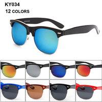 Hard plastic frame oculos hot sale oculos de sol femininos 2014 fashion oculos de sol original KY034