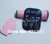 HOT SALES 180styles 50PCS /lot  Nail art stamping image plate+2pcs 2 ways stamp+2pcs scrap