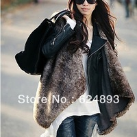 Sleeveless Collarless Collar Evening/ Career Faux Fur Vest free shipping