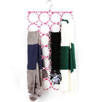 [Free shipping] 28-Holes Foldable Scarf Holder, Scarf Hangers, Scarf Organizer (4 pieces/ Lot)