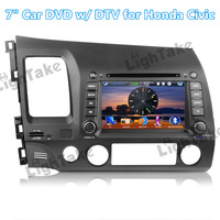 7 Inch Resistive Screen + Free Map, 2 Din Windows Car DVD Player w/ DTV GPS WiFi Bluetooth 3G Radio for Honda Civic (Left Hand)