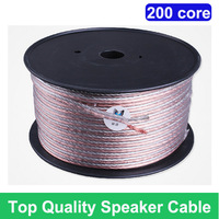 Top level Quality  Deluxe 200cores speaker wire speaker cable audio line For audiophile,wholesales 20M 65FT /lot, Free shipping