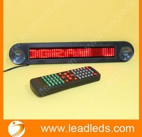 Free shipping  high Brightness English 7*40 Dots LED car message display sign with remote control